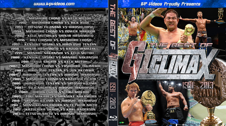 Best of NJPW G1 Climax Finals (Blu-Ray with Cover Art)